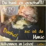 Das erste Bild von Marie (in Werners Armen)